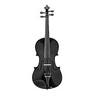 CERVINI HV-100BK 4/4 Estudio Tapa Picea Cuerpo Maple Negro Violin c/Arco y Estuche