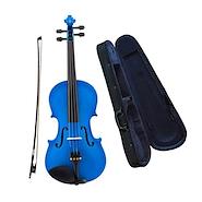 CERVINI HV-100BU 4/4 Estudio Tapa Picea Cuerpo Maple Azul Violin c/Arco y Estuche