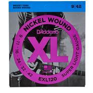 DADDARIO STRINGS EXL120 009 Nickel Wound Encordado Electrica