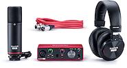 FOCUSRITE Scarlett Solo Studio CM25+Solo+HP60 3ra Generación Placa de Audio