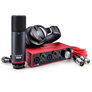 FOCUSRITE Scarlett 2i2 Studio CM25+2i2+HP60 3ra Generación Placa de Audio