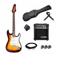 KANSAS EGP-PG10SN KAN Pack Guit Sunburst+Ampl10w+Afinad+F Guitarra Electrica
