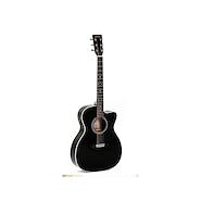 SIGMA GUITARS 000MC-1STE-BK Fishman Black Guitarra Electroacustica Acero