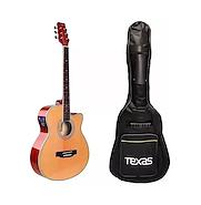 TEXAS AG60-LC5-NAT c/Funda Guitarra Electroacustica Acero