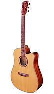 TYMA GUITARS D-10C NA Natural c/Fishman Funda, Correa, Paño y P Guitarra Electroacustica Acero