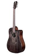 TYMA GUITARS D-3C BKS c/Fishman Funda, Correa, Paño y Pickguard Guitarra Electroacustica Acero