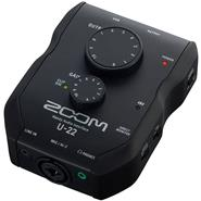 ZOOM PRO U22 USB 24 bits/192kHz  2 Entradas XLR/TRS Placa de Audio