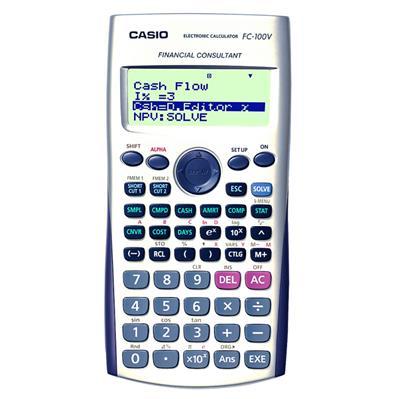 9c02a5923b84 CASIO FC-100V Calculadora Financiera