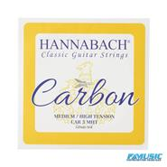 HANNABACH MHT Medium-High 3 Cuerdas Tension Hibridas Carbon