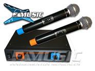 MIRRS IU-2058 UHF 2 Microfonos de Mano