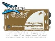 RADIAL ENGINEERING SB4 Activa Direct Box Stage Bug Phantom 48v