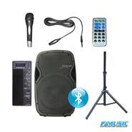 SUNSET JPS4015B Activo USB BT FM C/Tripode + Microfono