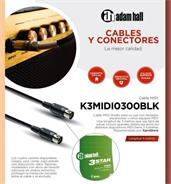ADAM HALL K3MIDI0300BLK