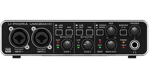 BEHRINGER U-PHORIA UMC204HD Audiophile