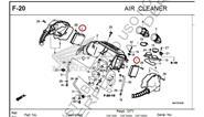 CRF 1000 AFRICA TWIN Filtro De Aire Africa Twin Crf1000 Juego Original Honda F1 HONDA