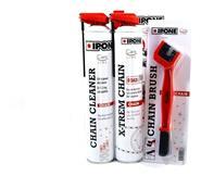 X-TREM CHAIN KIT Lubricante para cadena, Limpiador aerosol y Cepillo IPONE