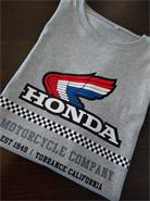 REMERA HONDA VINTAGE GRIS MOTORACER