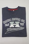 CLASSIC REMERA HONDA CLASSIC GRIS OSCURO MOTORACER