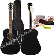 FENDER GUITARRA ACUSTICA DG8S BLACK PACK V2