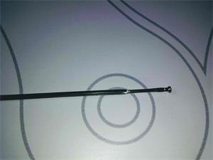 Rayo delantero Shimano para ruedas WH-R501-30S/L 274mm (Negr