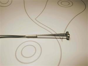 Rayos shimano delantero y Trasero WH-MT15-A, F15 287.5mm (1