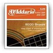 DADDARIO EJ10 - Bronze 80/20 - 10/47 Extra Light