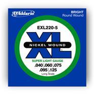 DADDARIO EXL220-5 - XL Nickel Wound 040/125