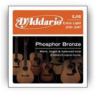 DADDARIO EJ15 - Phosphor Bronze - 10/47 Extra Light