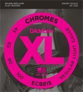 DADDARIO ECB81S Chromes Flatwound - Short Scale 045/100