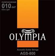 OLYMPIA AGS800 ENC-P/GUIT.ACUSTICA 010-047 PHOSP BRONZE
