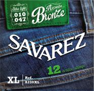 SAVAREZ A230XL ACOUSTIC BRONZE 12Cs extra light 010-047