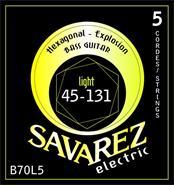 SAVAREZ B70L5 45-130 5 CUERDAS HEXA EXPLOSION LIGHT